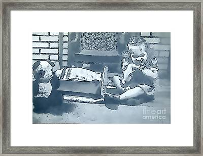 Framed Print featuring the photograph Childhood Memories by Linda Phelps