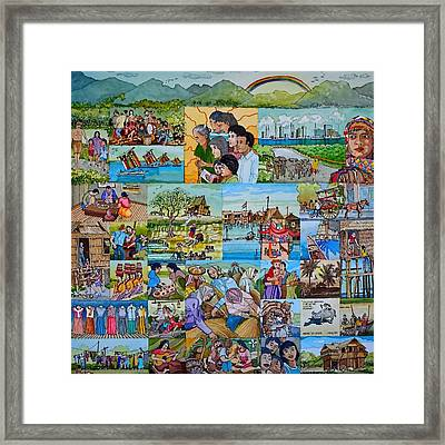 Childhood Memories Of My Mother Country Pilipinas Framed Print