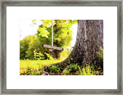 Framed Print featuring the photograph Childhood Memories by Shelby Young