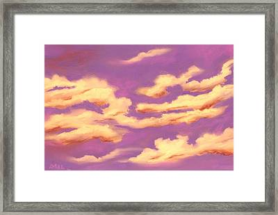 Childhood Memories - Sky And Clouds Collection Framed Print