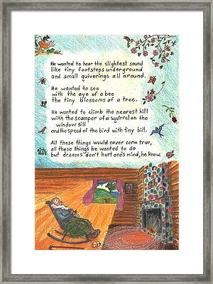 Childhood Poem And Illustration Framed Print