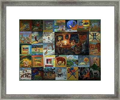 Childhood Quilt Framed Print