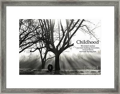 Childhood Remembered Framed Print