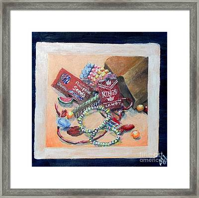 Framed Print featuring the painting Childhood Treasure by Saundra Johnson