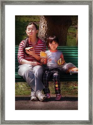 Children - Balanced Meal Framed Print by Mike Savad