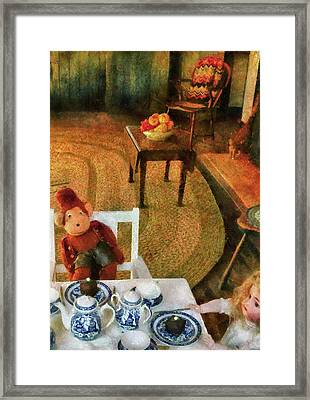Children - Toys - The Tea Party Framed Print by Mike Savad
