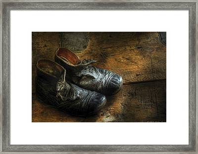 Children - Worn Out Shoes Framed Print by Mike Savad