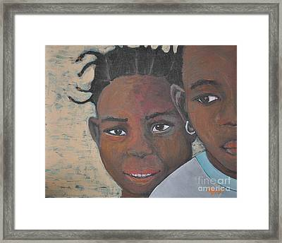 Children Burkina Faso Series Framed Print by Reb Frost