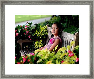 Framed Print featuring the photograph Children by Diana Mary Sharpton