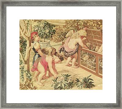 Children Gardening Framed Print