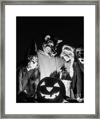 Children In Halloween Costumes, C.1960s Framed Print by D. Corson/ClassicStock