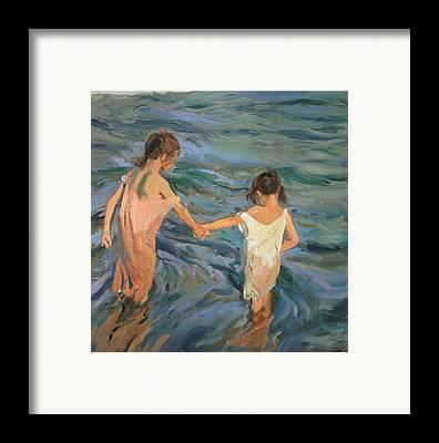 Beach Scene Framed Prints