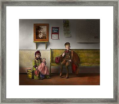 Children - Life Is An Adventure 1893 Framed Print by Mike Savad