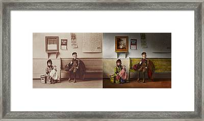 Children - Life Is An Adventure 1893 - Side By Side Framed Print by Mike Savad