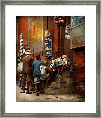 Children - Morning Meeting 1910 Framed Print