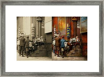 Children - Morning Meeting 1910 - Side By Side Framed Print