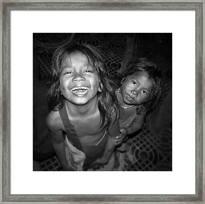 Children Of Phnom Penh Framed Print