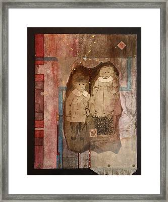 Children Of The Rush Framed Print by Katherine Weston