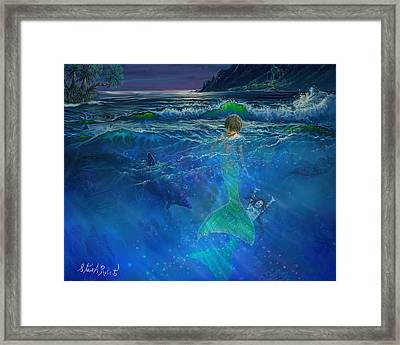 Framed Print featuring the painting Children Of The Sea by Steve Roberts