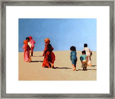 Children Of The Sinai Framed Print by Kurt Van Wagner