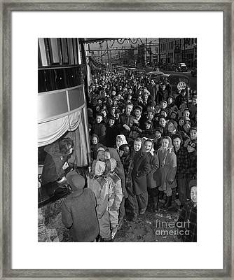 Children On Line For The Movies, 1946 Framed Print