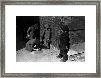 Children Play In Chicago, Original Framed Print by Everett