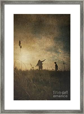 Children Playing Framed Print