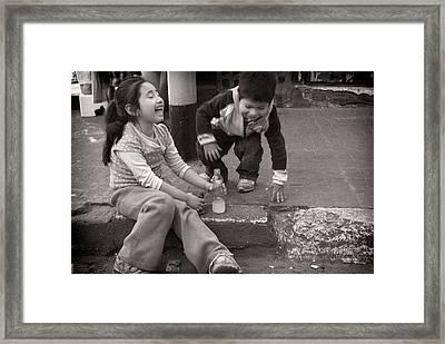 Children Framed Print by Tarek Charara