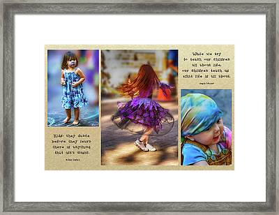 Children Teach Us Framed Print
