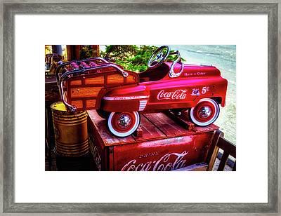 Childrens Coca Cola Car Framed Print by Garry Gay
