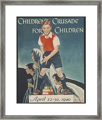 Children's Crusade For Children Framed Print
