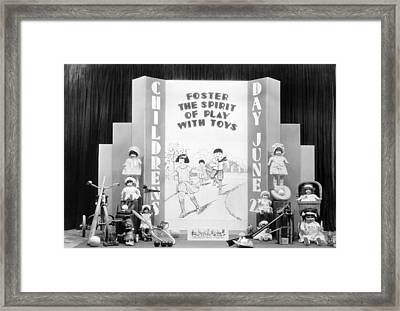 Childrens Day Display Framed Print by Underwood Archives