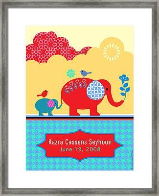Children's Elephant Poster Framed Print by Misha Maynerick