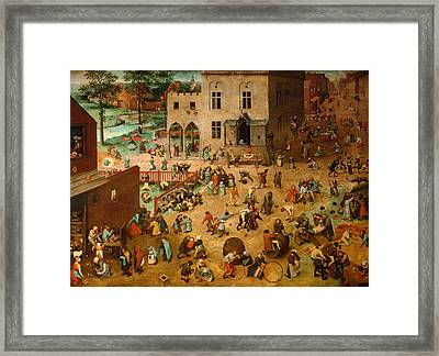 Children's Games Framed Print by Mountain Dreams