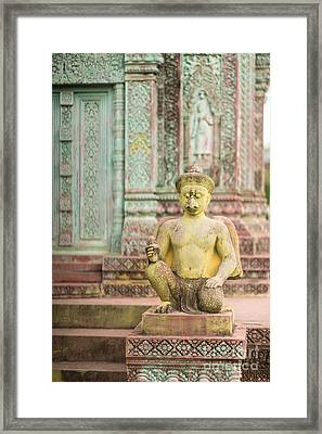 Childrens Hospital Temple Details In Siem Reap Framed Print