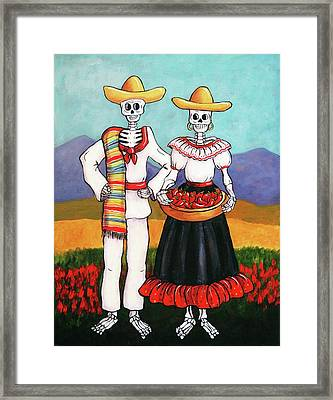 Chile Farmers Framed Print
