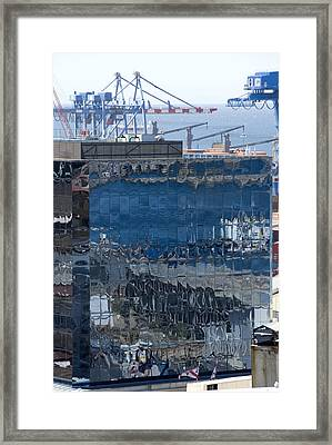 Chile Harbor Reflections Framed Print by Charles  Ridgway
