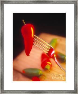 Chile Pepper Framed Print by Vance Fox