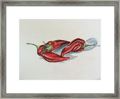 Chile Peppers Framed Print