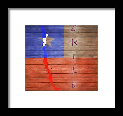 Flag Of Chile Framed Prints