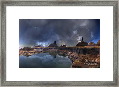 Chilean Copper Querry  Framed Print by Heinz G Mielke