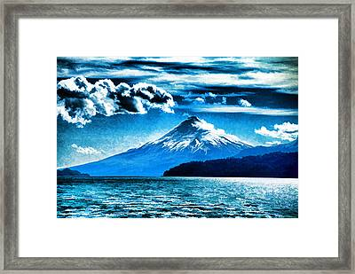 Chilean Volcano Framed Print by Dennis Cox