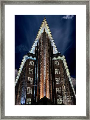 Chilehaus, Hamburg Framed Print by Nichola Denny