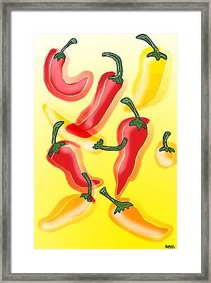 Chiles En El Sol Framed Print