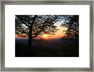 Framed Print featuring the photograph Chilhowee Sunset by Kathryn Meyer