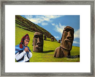 Chile Easter Island Framed Print