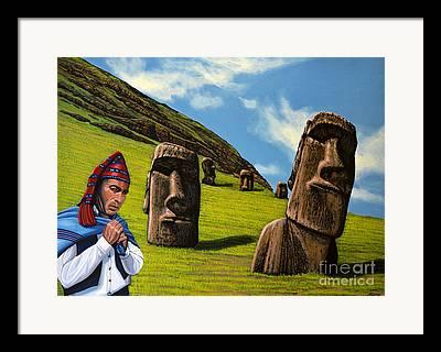Moai Framed Prints