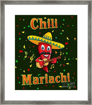 Chili Mariachi Framed Print by Bedros Awak