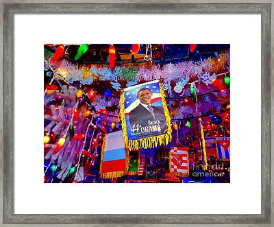 Chili Pepper Barack Framed Print by Ed Weidman