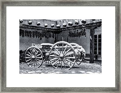 Peppers And Snow_2 Framed Print